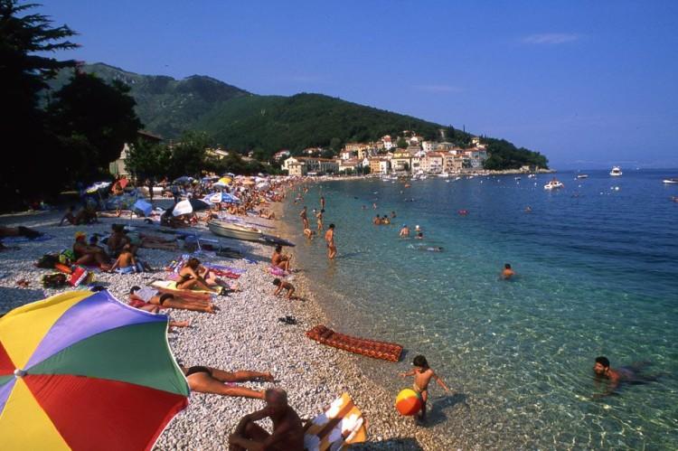 Moščenićka Draga pláž