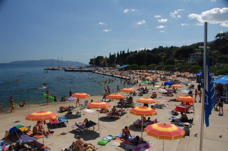 Pláž Ičiči, Chorvátsko