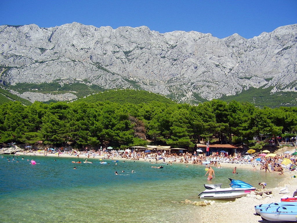 Pláž, Makarska