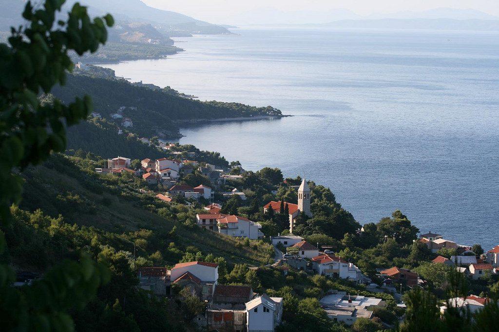 Gradac, Chorvátsko - pohľad zhora