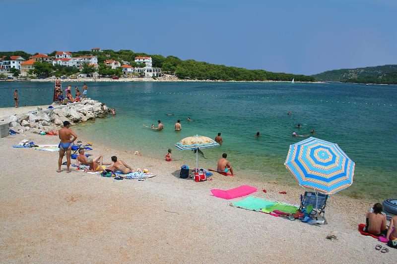 Pláž Lovišća, Murter, Chorvátsko