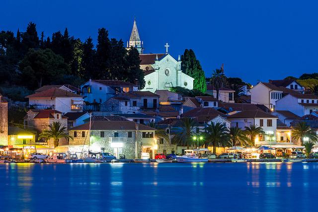 Rogoznica - pohľad na mesto, Chorvátsko