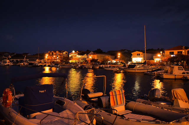 Murter v noci, Chorvátsko