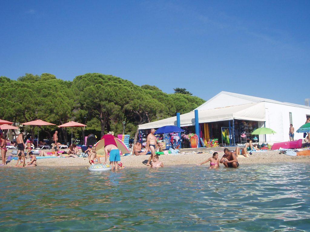 pláž Biograd na moru , Chorvátsko