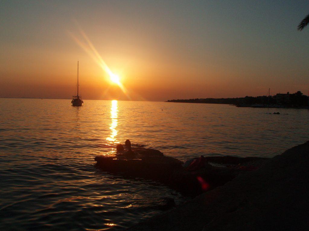 Petrčane - západ slnka