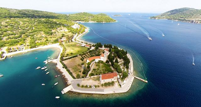Ostrov Vis pohľad zhora